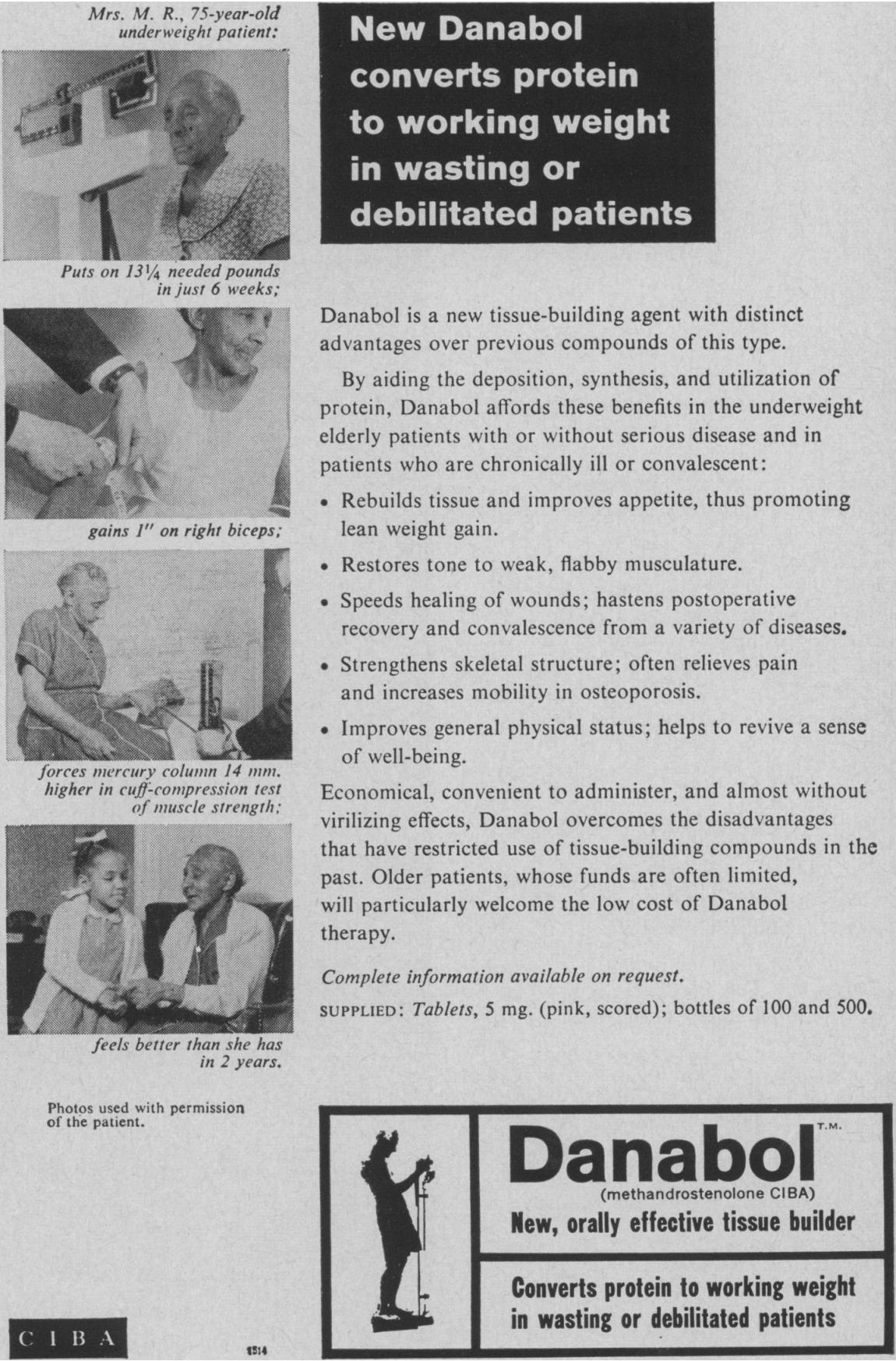 MorePlatesMoreDates.com CIBA Dianabol Advertisement